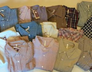 自然栽培綿シャツたくさん入荷しました!