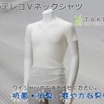 竹のテレコVネックシャツ