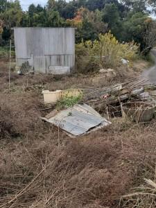20201106 整備前の畑(廃棄物)